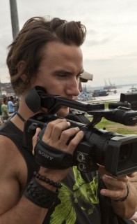 Rob Stewart filming on location in the Amazon Jungle, Brazil. Photo credit Brennan Grange. From the documentary film Revolution.