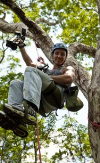 Climbing trees in Brazil. Photo © Brennan Grange. www.bgrangephotography.ca From the documentary film Revolution.