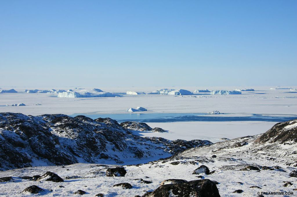Greenland Ice-sheet - The Greenland ice sheet is one of two ice sheets in the world and covers most of Greenland in ice two to three kilometres thick
