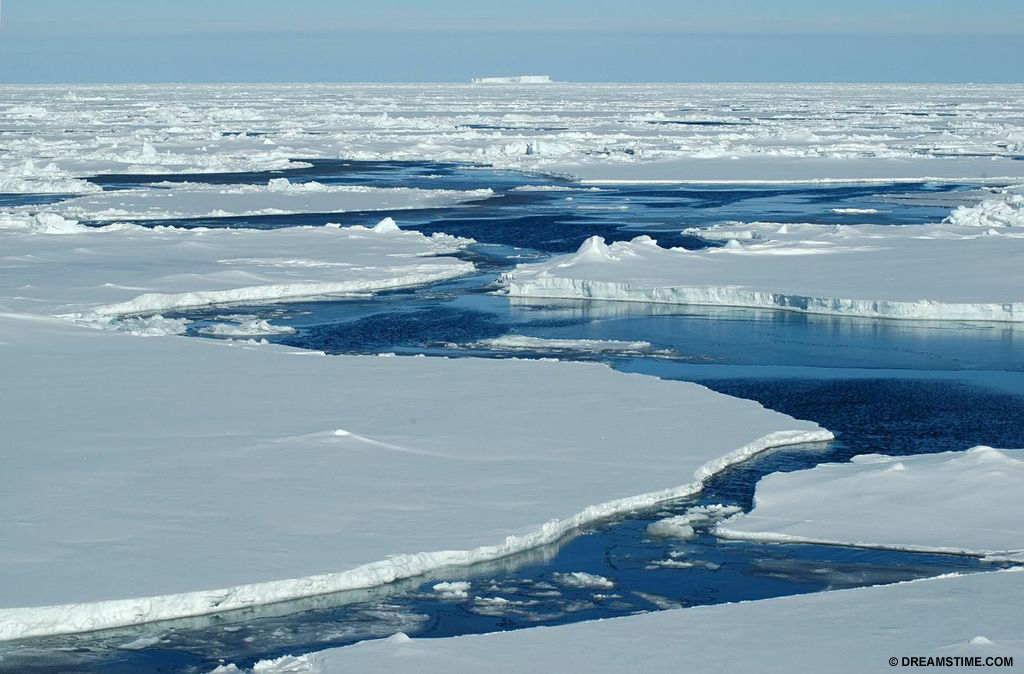 Sea Ice - Floating over millions of square kilometers of ocean, sea ice forms and melts with the polar seasons