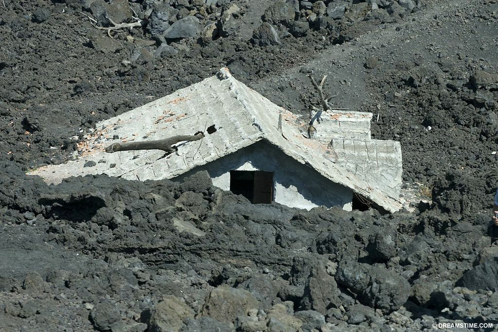 Landslide buries a home