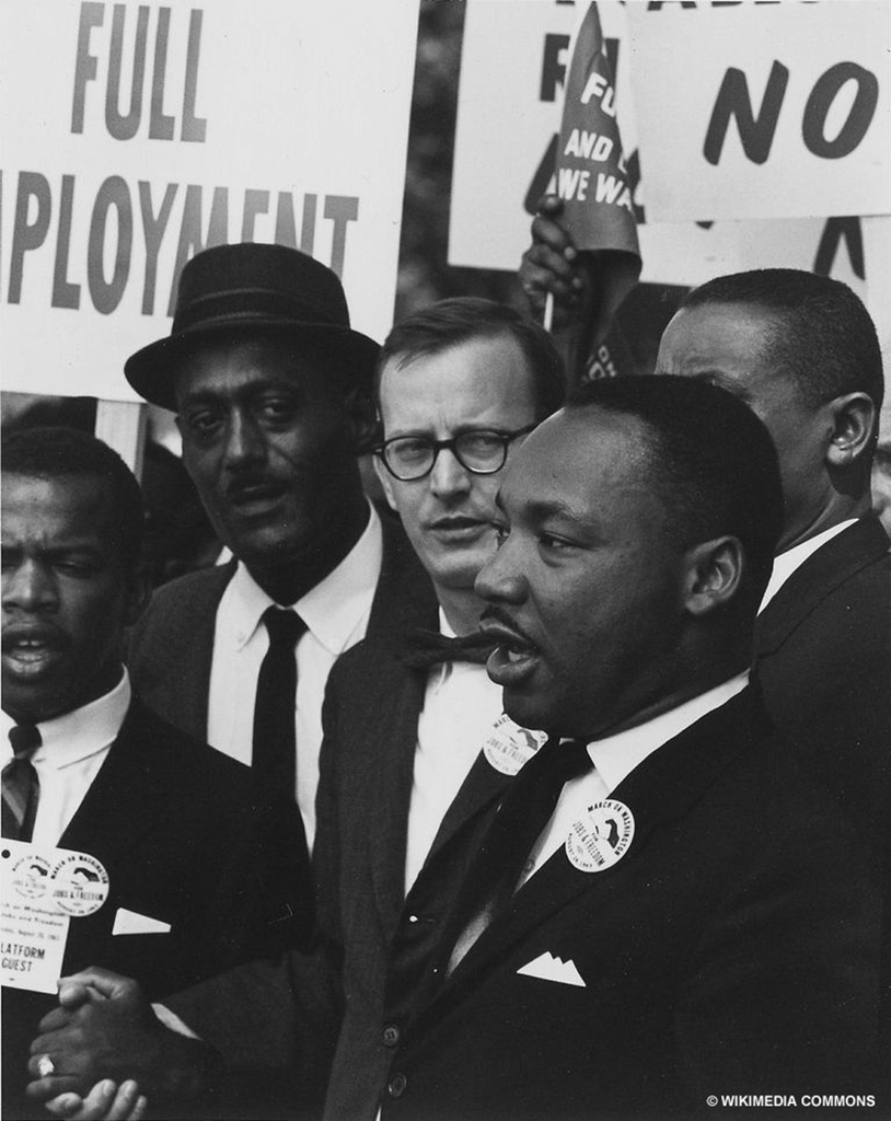 Martin luther king Jr. attending a civil rights march on Washington, D.C