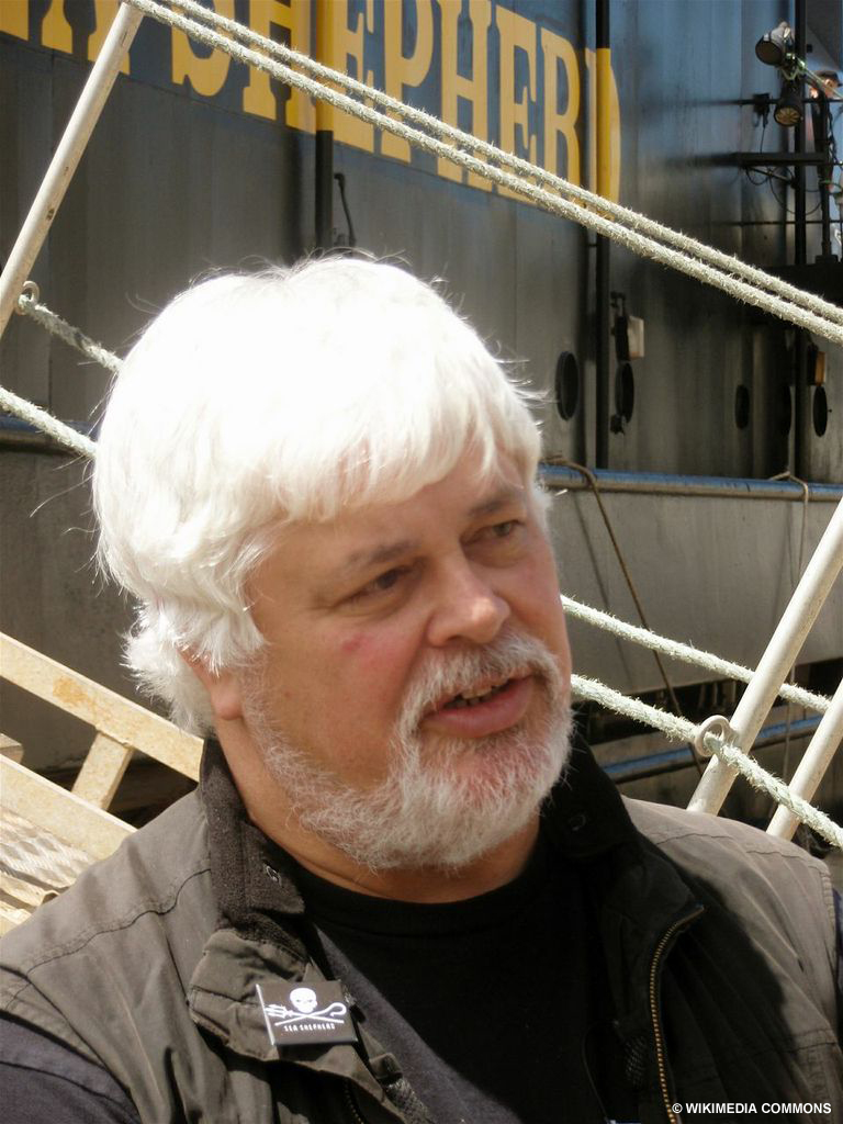 Paul Watson is a founder of the Sea Shepherd Conservation Society