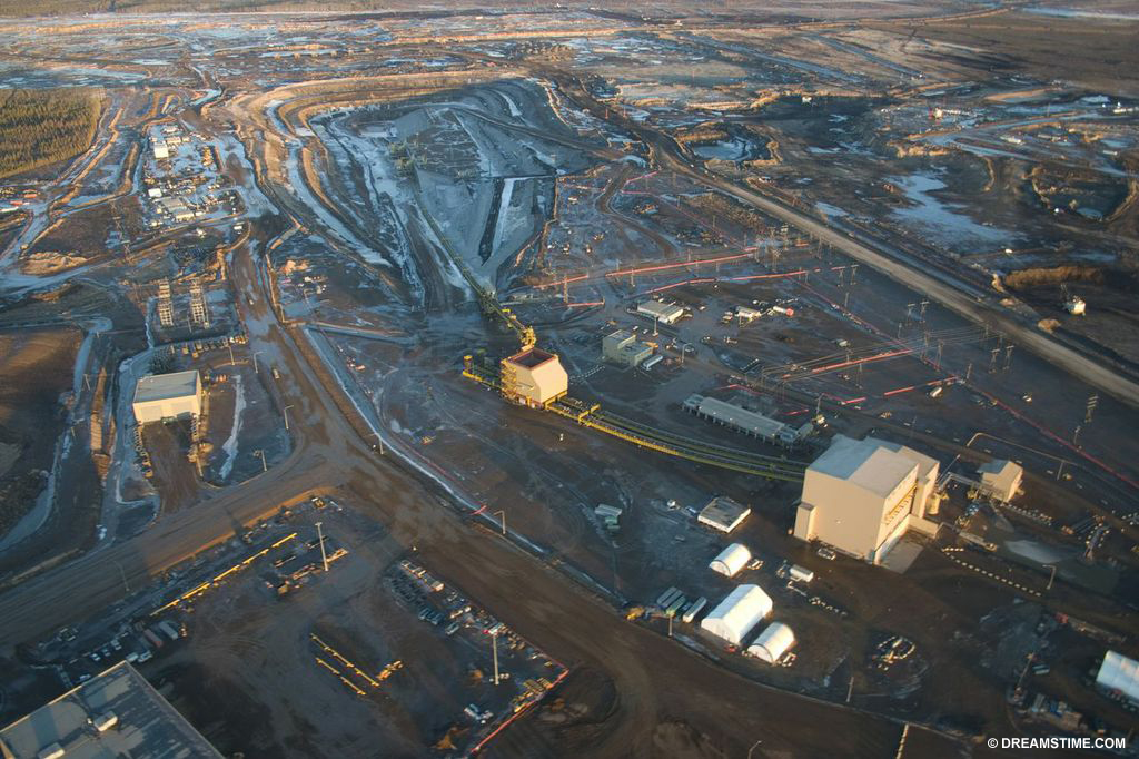 The extraction of oil from Alberta Tar Sands