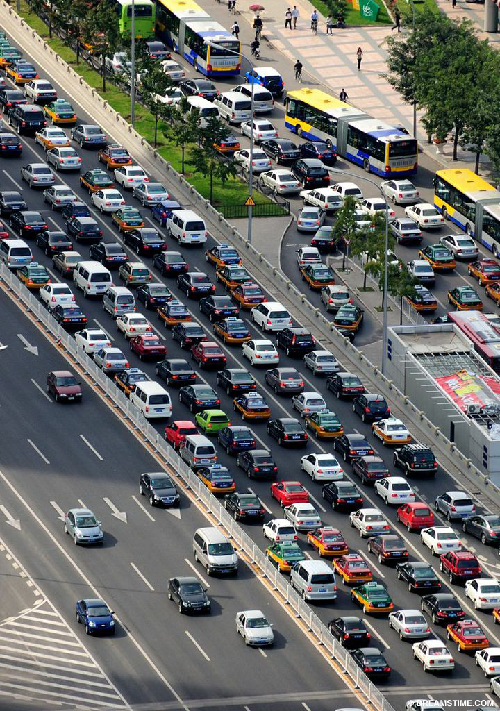 Beijing Traffic - Transportation is the second largest contributor of global carbon dioxide emissions from fossil fuels