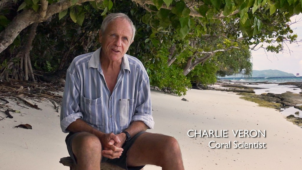 """Dr. John """"Charlie"""" Veron – the Godfather of Coral, former chief scientist for the Australian Institute of Marine Sciences. Photo © Tristan Bayer www.earthnative.com From the documentary film Revolution."""